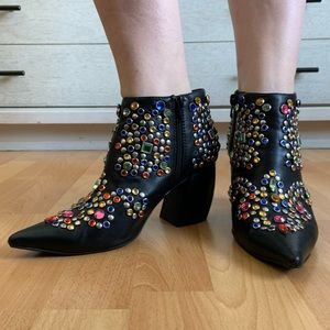 Jeffrey Campbell Rhinestone Ankle Boots